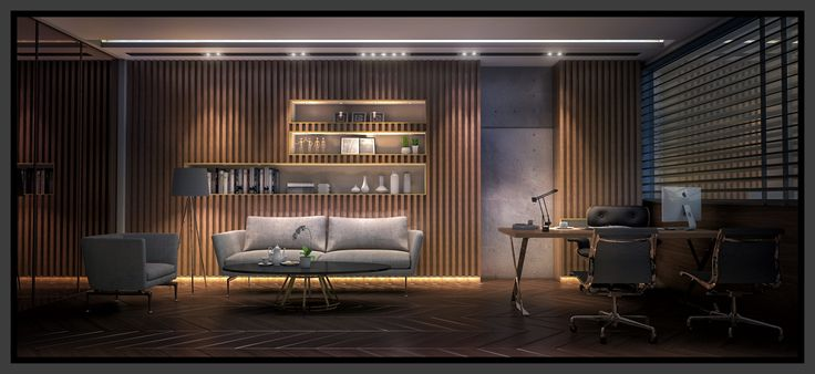 Ceo room with modern elegance style