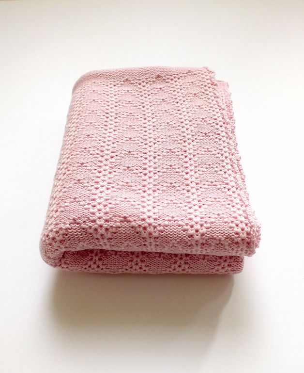 Babydecken - Merinowolle Baby-Wurfdecke - Baby Mädchen Decke - ein Designerstück von dainorakyte bei DaWanda
