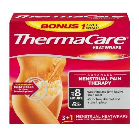 ThermaCare Advanced Menstrual Pain Therapy 3+1 Menstrual Heatwraps