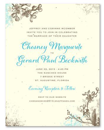 romantic garden plantable garden wedding invitationswedding - Plantable Wedding Invitations