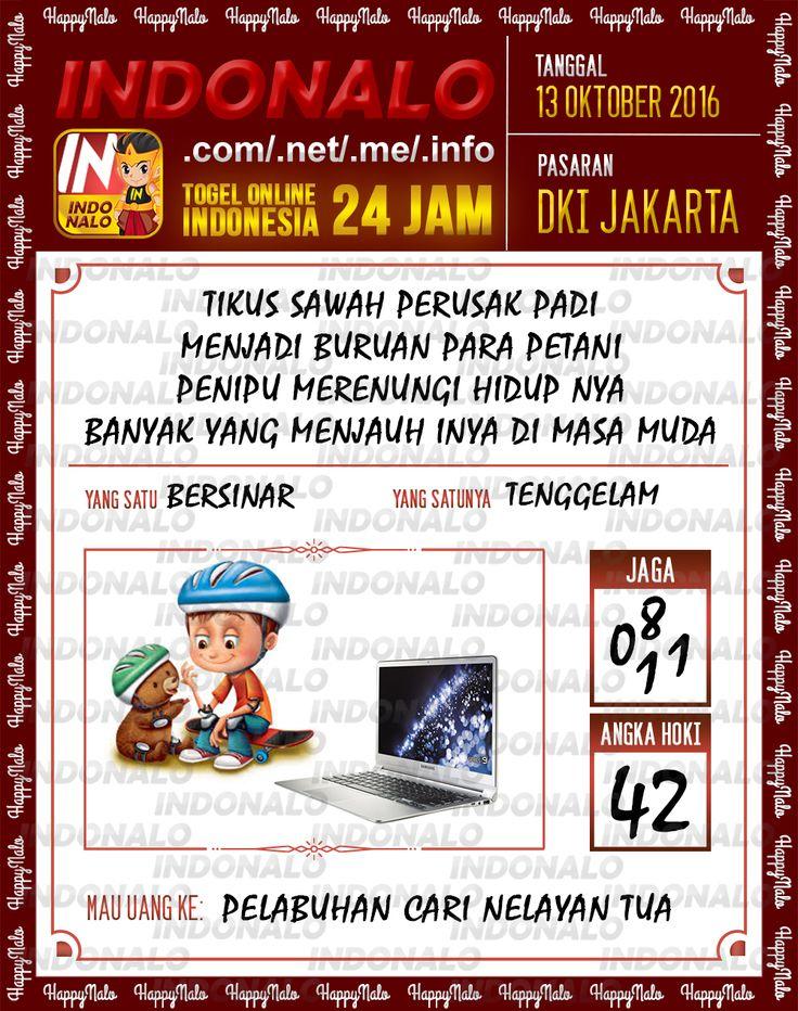 Colok Angka SDSB Togel Online Live Draw 4D Indonalo DKI Jakarta 13 Oktober 2016