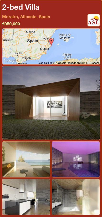2-bed Villa in Moraira, Alicante, Spain ►€950,000 #PropertyForSaleInSpain