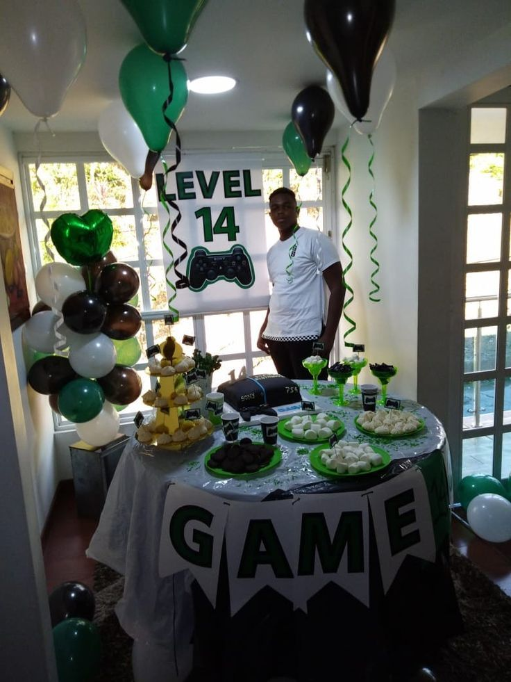 Game Party Ideas Video Games Birthday Party Video Game Birthday Party Decorations Video Games Birthday