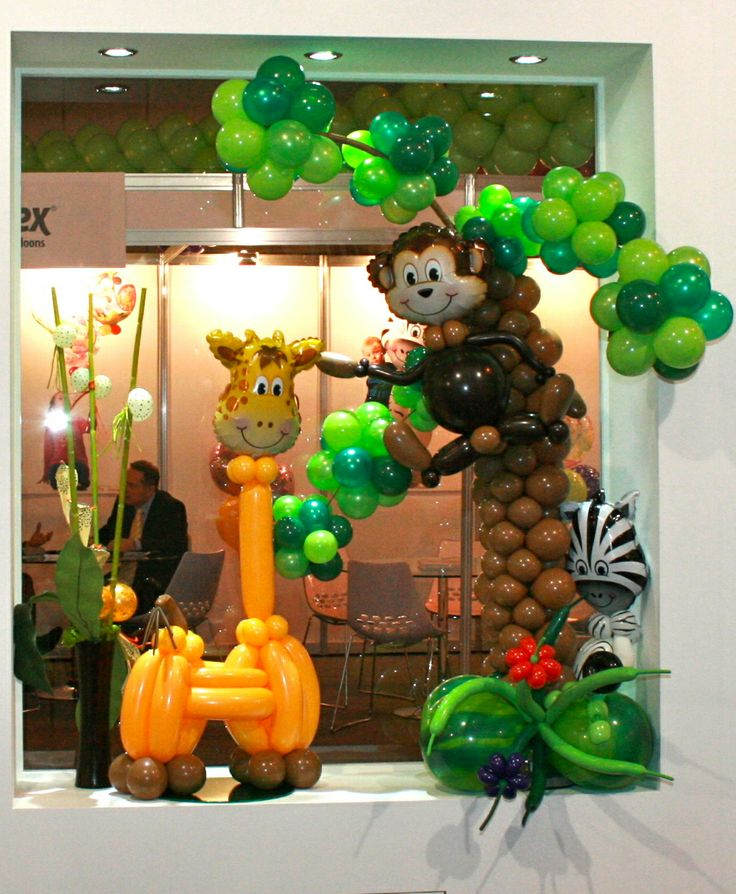 Safari Themed Balloon Centerpiece : Images about safari on pinterest balloons