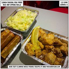 This lemon chicken is perfect for a Slimming World friendly takeaway - only 1.5 syns per portion. Plus, less cigarette ash and hair, so everyone's a winner. Remember, at www.twochubbycubs.com we post a new Slimming World recipe nearly every day. Our aim is good food, low in syns and served with enough laughs to make this dieting business worthwhile. Please share our recipes far and wide! We've also got a facebook group at www.facebook.com/twochubbycubs - enjoy!
