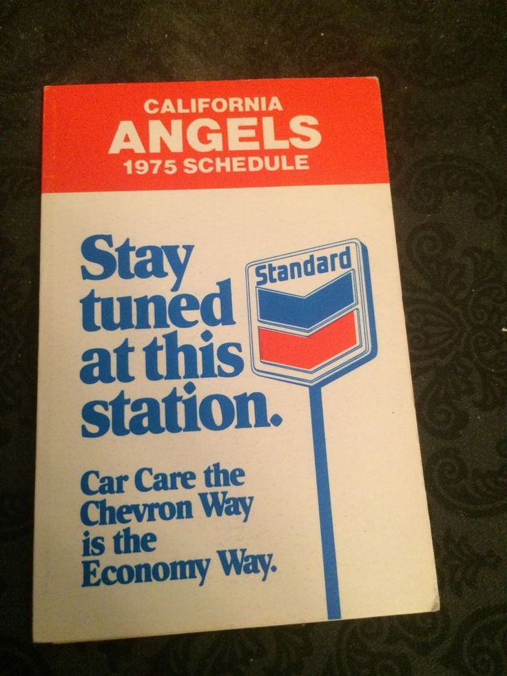 1975 california angels #Baseball pocket schedule sponsor: standard from $5.0