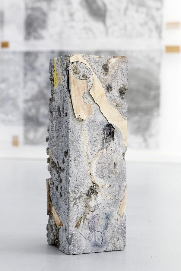 Jacob, Inconcrete.  2013, concrete sculpture and mixed media, 44x15x16cm