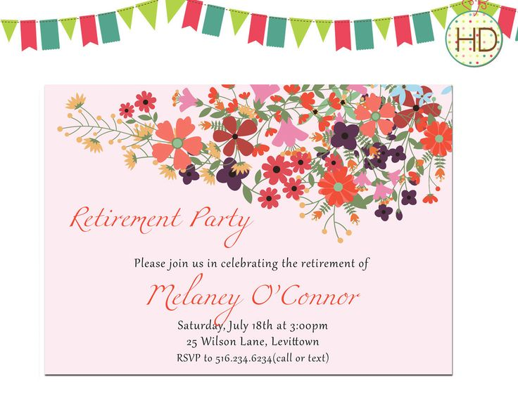 7 Best Retirement Party Invitations Images On Pinterest