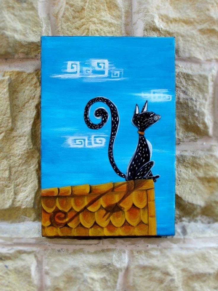 """Tablou """"Nostalgic Cat"""""""