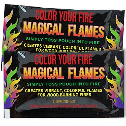 Magical Flames 25-pack: TWICE THE COLOR half the price! Creates Vibrant Rainbow Colored Flames - 30day Money Back Guarantee