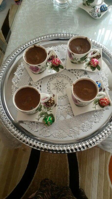 Misafirlerime kahvelerim