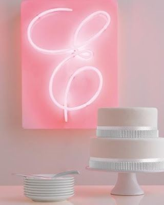 Neon letters.   So dying to get a neon sign!! My next buy!