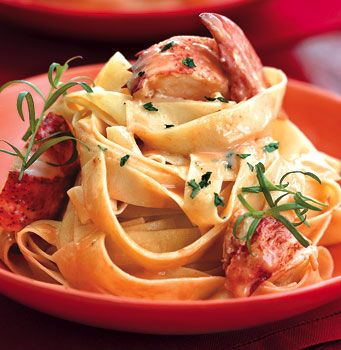 Lobster Meat dinner Recipes | Lobster Pasta with Herbed Cream Sauce recipe