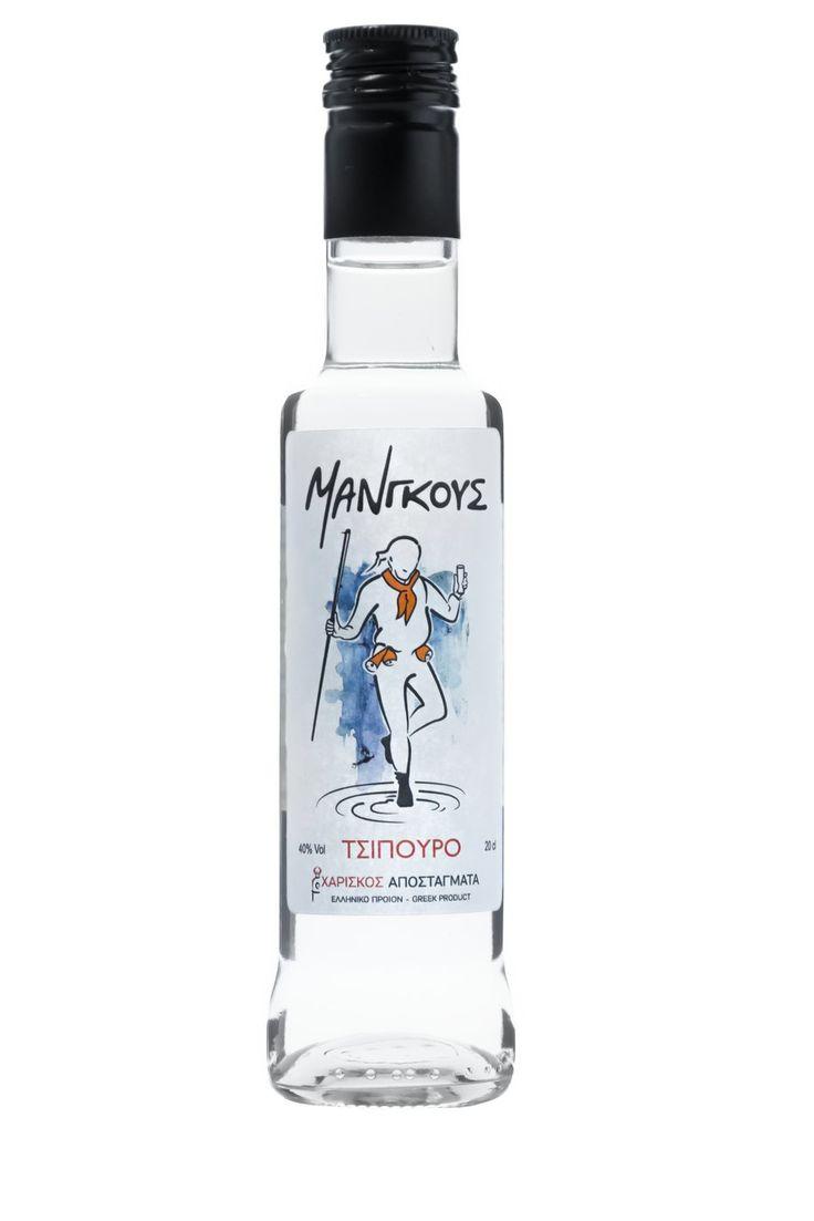 Τσίπουρο Μάνγκους - 200 ml 40% vol. - Tsipouro Mangoos