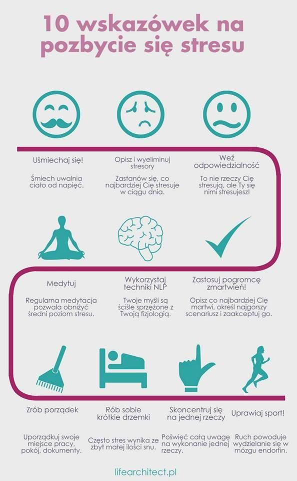 10 wskazówek na pozbycie się stresu. Powodzenia! ;)