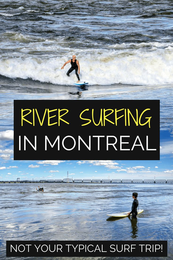 When you think of Canada, does surfing come to mind? In the city of Montreal it's possible to surf perpetual waves on the mighty Saint Lawrence River.