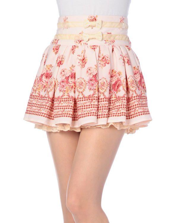 Boerenbont × bloemenprint broek | Bottoms | LIZ LISA (Rizurisa) - VENT ONLINE STORE
