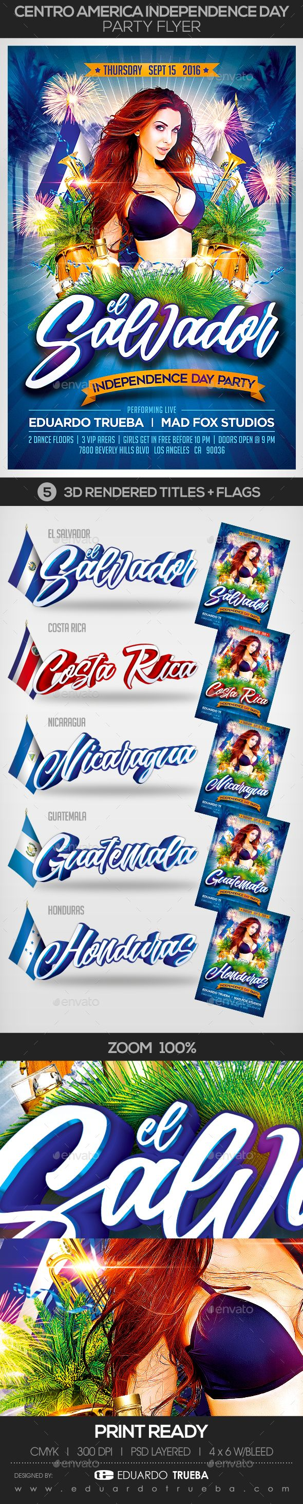 Centro America Independence Day Party Flyer — Photoshop PSD #nicaraguense #hondureno • Available here → https://graphicriver.net/item/centro-america-independence-day-party-flyer/17756489?ref=pxcr