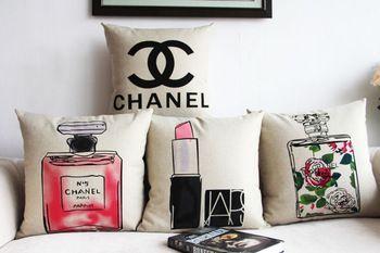 Algodón de lino perfume cojín / almohada cubierta / del sofá almohada decorativa / cojín / almohada Sham / funda de almohada
