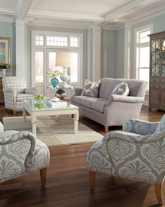 The 7436-20 is a small scale, tight back sofa - perfect for small spaces! #interiordesign