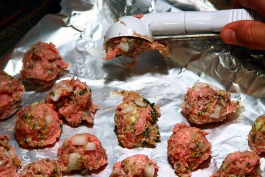 Venison meatballs  ~~**  Made these last night and was a little skeptical but thought they were great, this is how we'll be doing our Spaghetti and Meatballs from here out..  I didn't have any carrots so I left those out and I thought it turned out just fine..