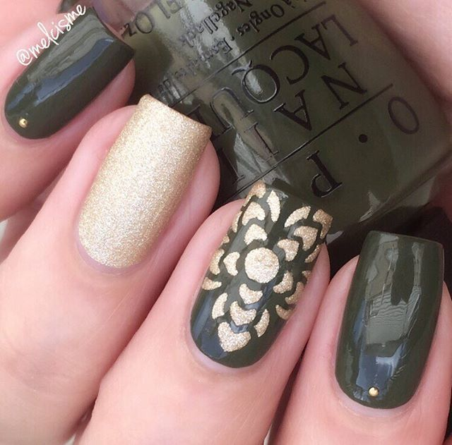 "this olive green is perfect for fall.  @opi_products ""Suzi The First Lady Of…"