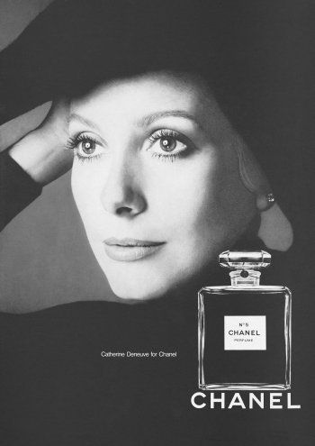 Portrait of Catherine Deneuve for Chanel by Richard Avedon, 1972