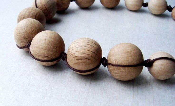 Nursing wooden necklace Breastfeeding bead from MiracleFromThreads  by DaWanda.com