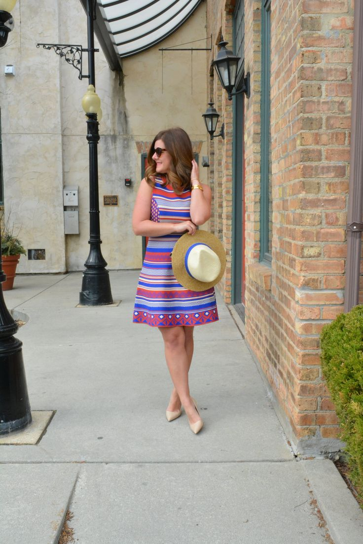 Five Sparrows Dress, Spring Style, Banana Republic Fedora, Nude Kate Spade Heels, Chicago Blogger, The $33 dress your closet needs this Spring, Five Sparrows