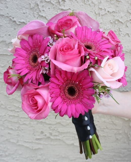 Hot Pink Wedding Bouquets | Hot Pink Bouquet | Philadelphia wedding flowers