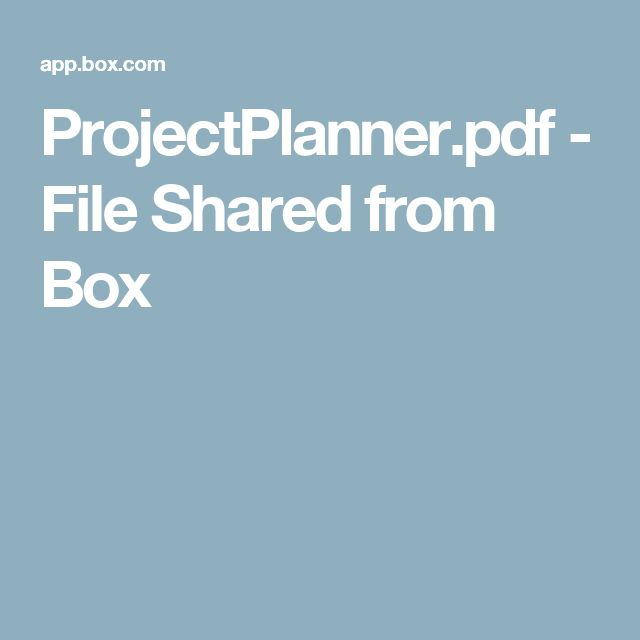 ProjectPlanner.pdf - File Shared from Box