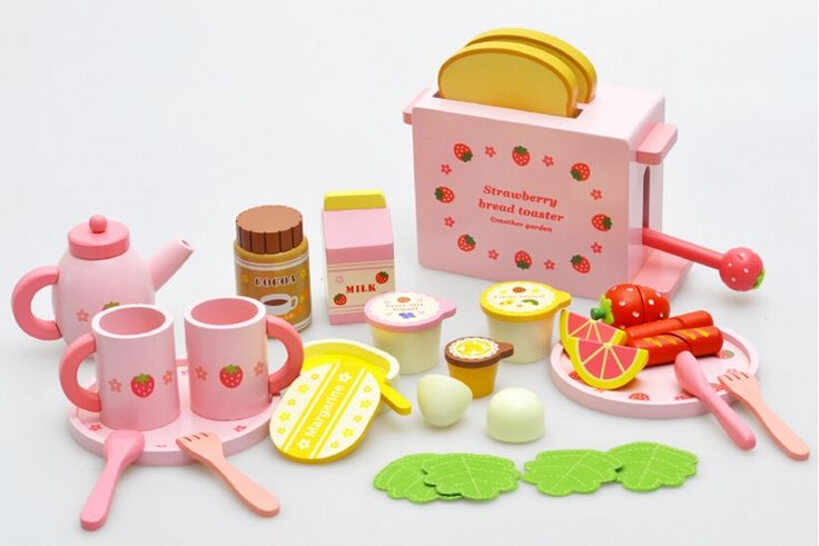 57.11$  Buy here - http://ali4hd.shopchina.info/go.php?t=32793375954 - New Arrival Strawberry Toaster Infants And Young Children Wooden Play House Wooden Kitchen   #buyininternet