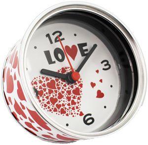 """Reloj de Aluminio """"LOVE"""" presentado en lata regalo 2,69"""