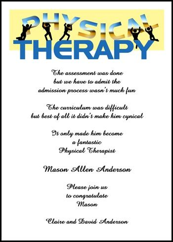 doctor of physical therapy graduation announcement wording