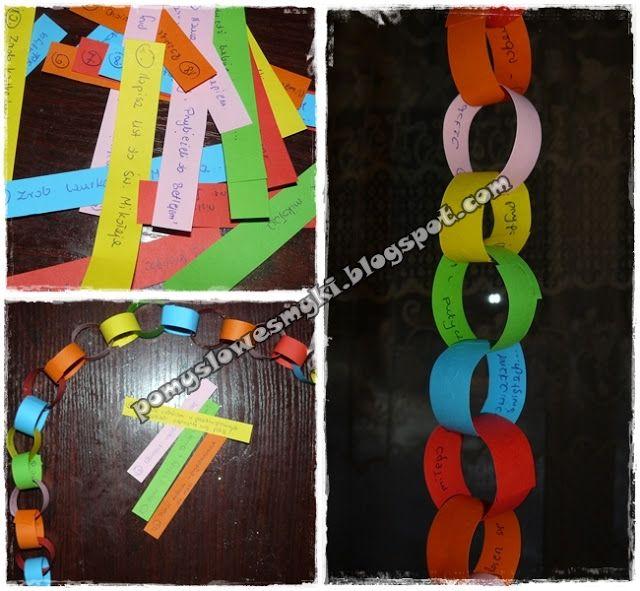 Kalendarz adwentowy - łańcuch na choinkę