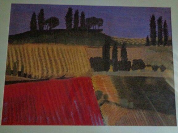 Landscape in pastel - Linda