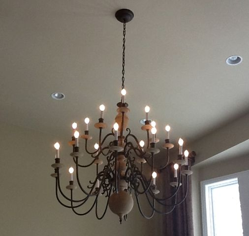 Large Brass Chandelier Redo