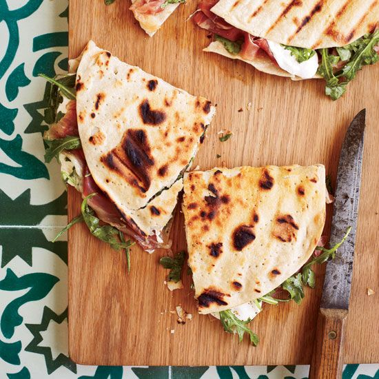 Prosciutto-Mozzarella Piadine | Hot, Melted Sandwiches: http://www.foodandwine.com/slideshows/hot-melted-sandwiches #foodandwine #favoritesfriday
