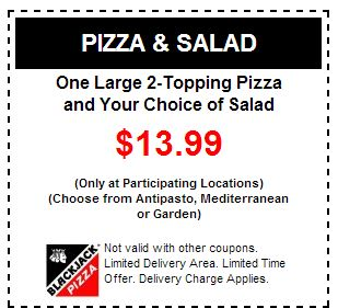 But of course not all BlackJack Pizza Coupons can be used in a long time because BlackJack Pizza will definitely gives it the enactment of coupons. For it frequently visiting this simple blog. http://pizzacouponscode.blogspot.com/2013/07/free-blackjack-pizza-coupons.html