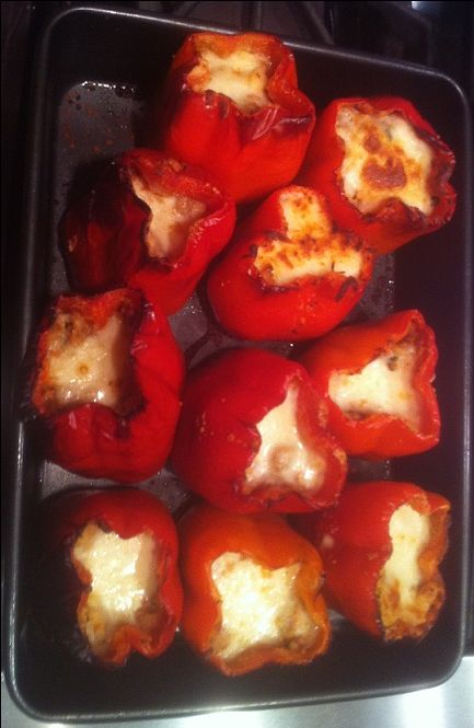 Chourico and Quinoa Stuffed Peppers - Easy Portuguese Recipes