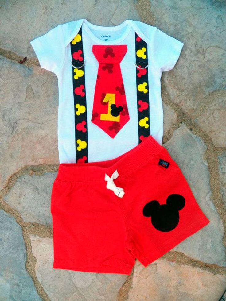 roupinha para bebê festas infantis do Mickey Mouse