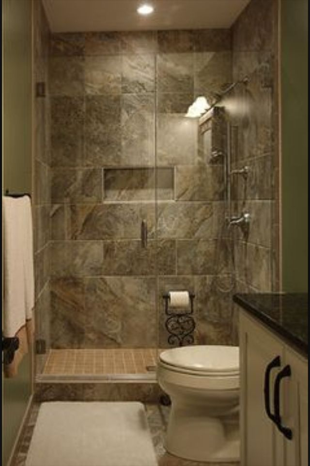 I like this tile job in the shower and the nook for shampoo, ect