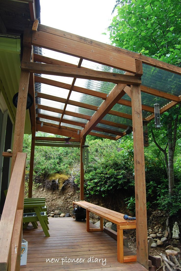 Image result for clear roof lean to