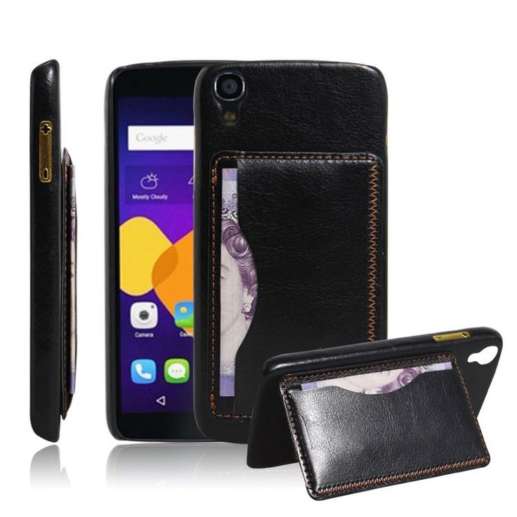 cool For Alcatel idol 3 5.5 case cover ,New 2015 fashion Luxury Crazy Horse Retro stand phone case Pouch Elegant Vintage Card Holder