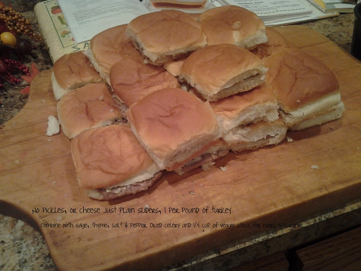 The stuffing recipe was taken directly from White Castle's web site