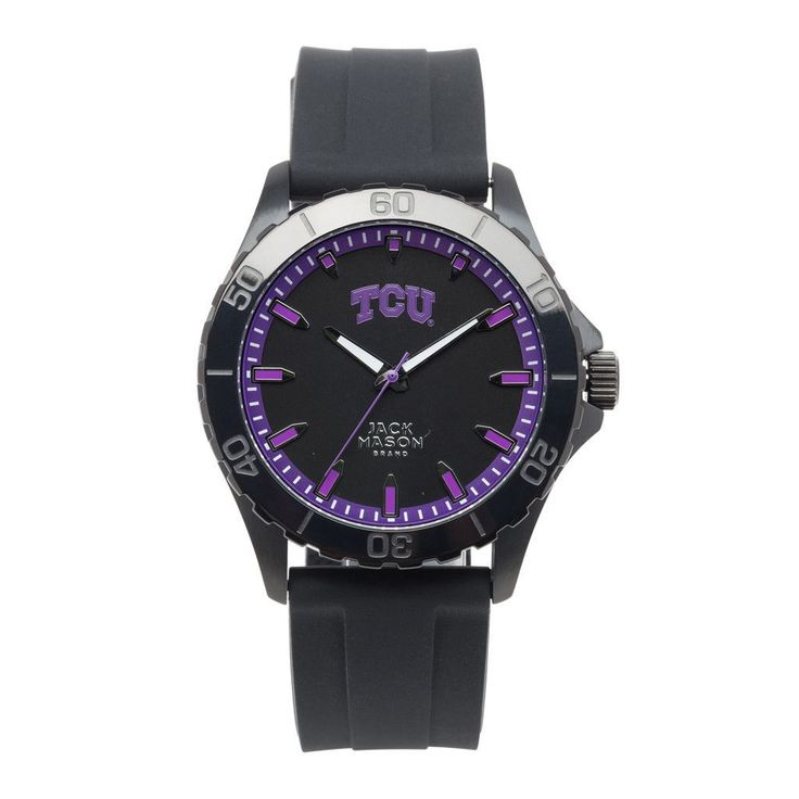 TCU Horned Frogs Blackout Watch w/ Silicone Strap