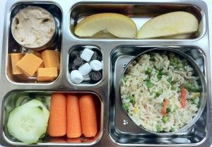 Rice and Veggies Lunchbox - RachelsRandom.com #PlanetBox #Vegetarian #bento @Janet Davis Box