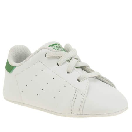 kids adidas white \u0026 green stan smith crib unisex crib