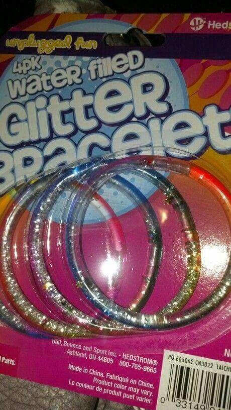 Glitter bracelets