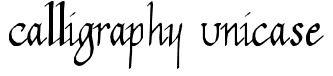 Calligraphy Unicase
